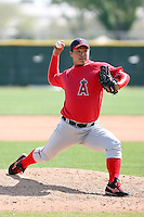 Yung-Il Jung, Los Angeles Angels 2010 minor league spring training..Photo by:  Bill Mitchell/Four Seam Images.