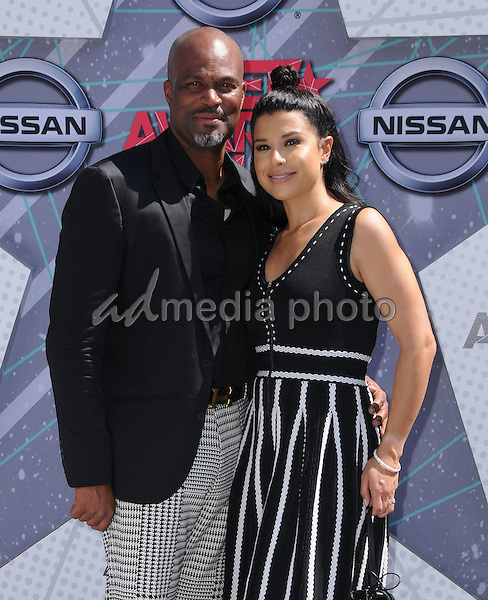 26 June 2016 - Los Angeles. Chris Spencer, Vanessa Rodriguez. Arrivals for the 2016 BET Awards held at the Microsoft Theater. Photo Credit: Birdie Thompson/AdMedia