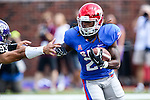 Southern Methodist Mustangs running back Darius Durall (21) in action during the game between the TCU Horned Frogs and the SMU Mustangs at the Gerald J. Ford Stadium in Fort Worth, Texas. TCU defeats SMU 56 to 0.