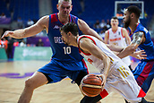 7th September 2017, Fenerbahce Arena, Istanbul, Turkey; FIBA Eurobasket Group D; Russia versus Great Britain; Guard Aleksei Shved #1 of Russia drives to the basket during the match