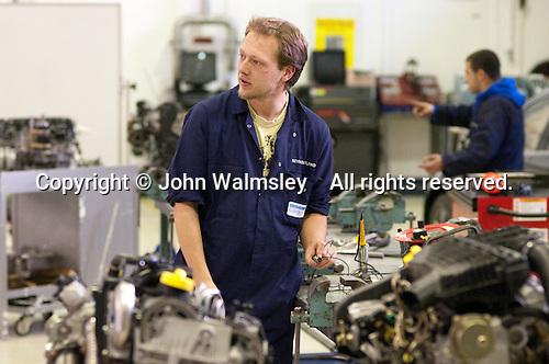 Motor Mechanics, Further Education College.