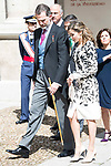 "King Felipe VI of Spain and Queen Letizia arrives to University of Alcala de Henares during award ceremony of literature in Spanish ""Miguel de Cervantes"" to in Madrid., April 20, 2017. Spain.<br /> (ALTERPHOTOS/BorjaB.Hojas)"