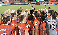 Houston, TX - Saturday August 25, 2018: Houston Dash vs Sky Blue FC at BBVA Compass Stadium.