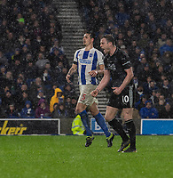 Burnley's Ashley Barnes celebrates  scoring his side's third goal from a penalty<br /> <br /> Photographer David Horton/CameraSport<br /> <br /> The Premier League - Brighton and Hove Albion v Burnley - Saturday 9th February 2019 - The Amex Stadium - Brighton<br /> <br /> World Copyright &copy; 2019 CameraSport. All rights reserved. 43 Linden Ave. Countesthorpe. Leicester. England. LE8 5PG - Tel: +44 (0) 116 277 4147 - admin@camerasport.com - www.camerasport.com