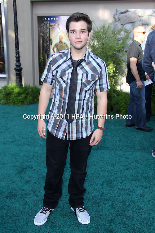 """LOS ANGELES - JUL 6:  Nathan Kress arriving at the """"Zookeeper"""" Premiere at Regency Village Theater  on July 6, 2011 in Westwood, CA"""