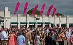 LOUISVILLE, KY - MAY 04: The crowd on Kentucky Oaks Day at Churchill Downs on May 4, 2018 in Louisville, Kentucky. (Photo by Eric Patterson/Eclipse Sportswire/Getty Images)