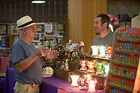 NWA Democrat-Gazette/BEN GOFF @NWABENGOFF<br /> People shop the booths Sunday, May 7, 2017, during the spring Frisco Station Mall Arts and Crafts Festival in Rogers.