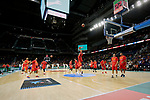 Players of Spain warm up before the Friendly match between Spain and Dominican Republic at WiZink Center in Madrid, Spain. August 22, 2019. (ALTERPHOTOS/A. Perez Meca)