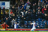 Craig Conway of Blackburn Rovers celebrates scoring during the Sky Bet League 1 match between Blackburn Rovers and Bradford City at Ewood Park, Blackburn, England on 29 March 2018. Photo by Thomas Gadd.