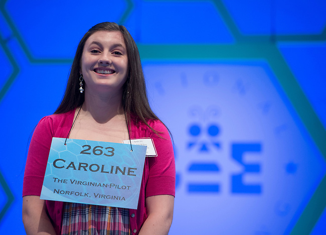 Speller 263 Caroline Ellissa Willett competes in the preliminary rounds of the Scripps National Spelling Bee at the Gaylord National Resort and Convention Center in National Habor, Md., on Wednesday,  May 30, 2012. Photo by Bill Clark