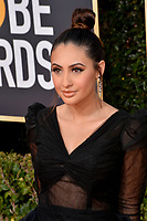 LOS ANGELES, CA. January 06, 2019: Francia Raisa at the 2019 Golden Globe Awards at the Beverly Hilton Hotel.<br /> Picture: Paul Smith/Featureflash