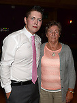 John Tiernan celebrating his 21st birthday in the Thatch with grandmother Philomena Tiernan. Photo:Colin Bell/pressphotos.ie
