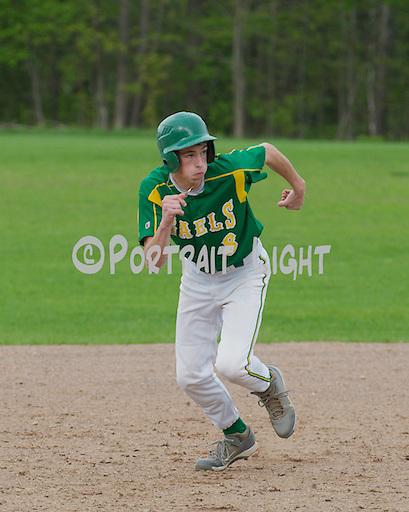 CHS senior right fielder Owen Gannon on the base paths.