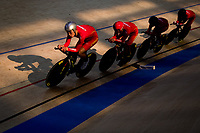 Picture by Alex Whitehead/SWpix.com - 08/12/2017 - Cycling - UCI Track Cycling World Cup Santiago - Velódromo de Peñalolén, Santiago, Chile - China's Kai Guo, Ya Ke Hou, Zhi Hui Jiang and Pingan Shen compete in the Men's Team Pursuit qualification.