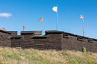 Fort William Henry, Lake George, New York, USA.