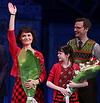Phillipa Soo, Savvy Crawford and Manoel Felciano during the Broadway Opening Night Performance Curtain Call for 'Amelie' at the Walter Kerr Theatre on April 3, 2017 in New York City
