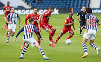 Fulham's Anthony Knockaert (centre) brings the ball down <br /> <br /> Photographer Andrew Kearns/CameraSport<br /> <br /> The EFL Sky Bet Championship - West Bromwich Albion v Fulham - Tuesday July 14th 2020 - The Hawthorns - West Bromwich <br /> <br /> World Copyright © 2020 CameraSport. All rights reserved. 43 Linden Ave. Countesthorpe. Leicester. England. LE8 5PG - Tel: +44 (0) 116 277 4147 - admin@camerasport.com - www.camerasport.com