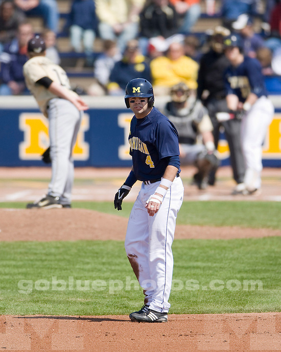 University of Michigan baseball 6-4 victory over Purdue University at Fisher Stadium on 4/10/10.