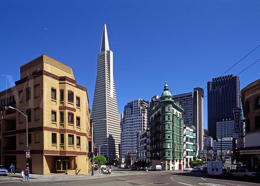 TRANSAMERICA building from NORTH BEACH - SAN FRANCISCO, CALIFORNIA