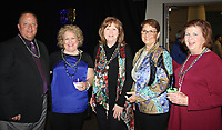 NWA Democrat-Gazette/CARIN SCHOPPMEYER Terry and Corrine Smith (from left), Becky Wood, Penny Storms and Rose Anne Pearce help support the Chase Family Foundation at Chase the Blues Away on Feb. 28 at the Fayetteville Town Center.