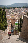Arta from the hilltop monastery of Sant Salvador, Mallorca