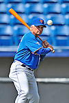 10 March 2012: New York Mets Manager Terry Collins taps out infield grounders prior to a Spring Training game against the Washington Nationals at Space Coast Stadium in Viera, Florida. The Nationals defeated the Mets 8-2 in Grapefruit League play. Mandatory Credit: Ed Wolfstein Photo