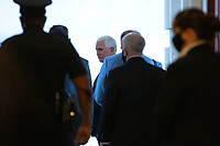 United States Vice President Mike Pence leaves the United States Capitol in Washington D.C., U.S., on Tuesday, June 9, 2020.  Credit: Stefani Reynolds / CNP/AdMedia