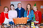 Nora Clifford, Iona O'Neill, Fr. Tadgh Fitzgerald, Niamh McMahon and Maureen Fleming, pictured at St. John's Parish Bazaar, held at the KDYS, Tralee on Saturday night last.