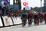Race leader Sam Bennett (IRL) Bora-Hansgrohe wins Stage 5 of the Presidential Cycling Tour of Turkey 2017 running 166km from Sel&ccedil;uk to Izmir, Turkey. 14/10/2017.<br /> Picture: Brian Hodes/VeloImages | Cyclefile<br /> <br /> <br /> All photos usage must carry mandatory copyright credit (&copy; Cyclefile | Brian Hodes/VeloImages)