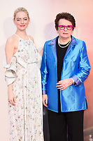 Emma Stone &amp; Billie Jean King at the London Film Festival 2017 screening of &quot;Battle of the Sexes&quot; at the Odeon Leicester Square, London, UK. <br /> 07 October  2017<br /> Picture: Steve Vas/Featureflash/SilverHub 0208 004 5359 sales@silverhubmedia.com