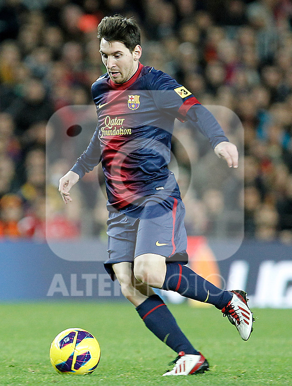FC Barcelona's Leo Messi during La Liga match.December 16,2012. (ALTERPHOTOS/Acero)
