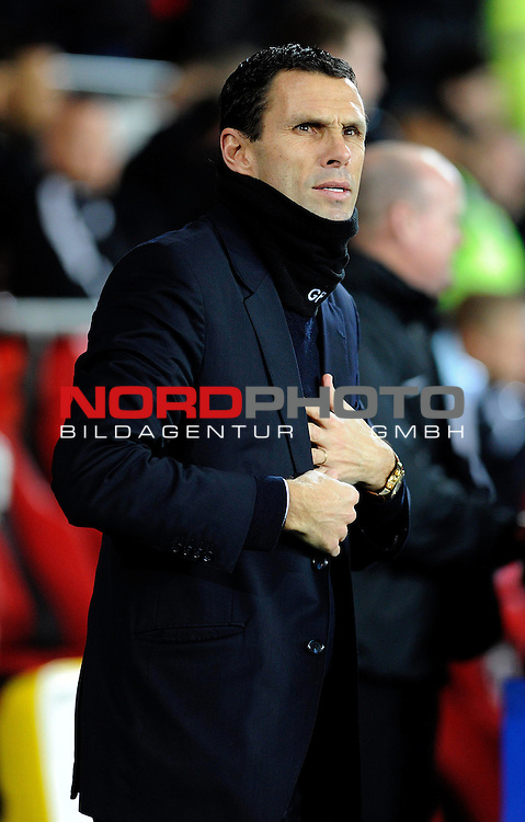 Sunderland Manager, Gustavo Poyet -    28/12/2013 - SPORT - FOOTBALL - Cardiff City Stadium - Cardiff - Cardiff City v Sunderland - Barclays Premier League<br /> Foto nph / Meredith<br /> <br /> ***** OUT OF UK *****