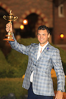 Martin Kaymer with the Ryder Cup at the end of Sunday's singles matches at the Ryder Cup 2012, Medinah Country Club,Medinah, Illinois,USA 30/09/2012.Picture: Fran Caffrey/www.golffile.ie.