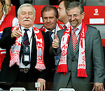 Lech Walesa (left) and Willi Molterer at Euro 2008. Austria-Poland 06122008, Wien, Austria