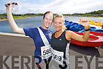 from left Claire Leahy and Nicola Sheehy pictured at the Rose of Tralee International 10k Race in Tralee on Sunday.