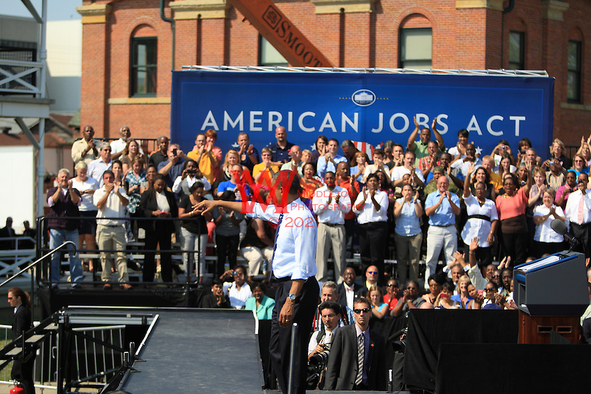 President Obama visits Fort Hayes Arts and Academic High School in Columbus, OH. September 13th, 2011
