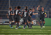 USMNT U17 celebrate. Spain defeated the U.S. Under-17 Men National Team  2-1 at Sani Abacha Stadium in Kano, Nigeria on October 26, 2009.