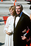 Andy Griffith & wife pictured in Los Angeles in October of 1981.