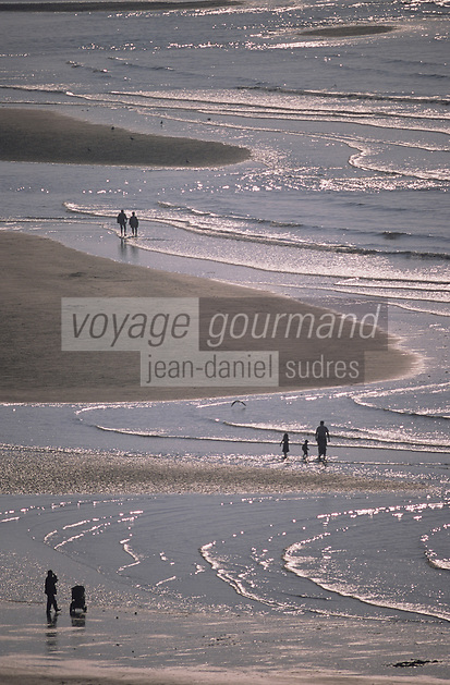 Europe/France/Normandie/Basse-Normandie/14/Calvados/Trouville : La plage vue depuis la table d'orientation