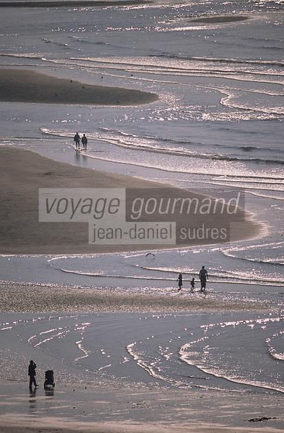 Europe/France/Normandie/Basse-Normandie/14/Calvados/Trouville: La plage vue depuis la table d'orientation