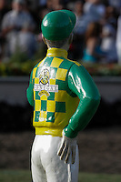 Dullahan's silks in the paddock at Del Mar Race Course in Del Mar, California on September 2, 2012.