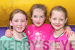 2716-2722. Enjoying the Cromane GAA Funday on Sunday were, l-r: Katie Horgan, Milltown, Sadhbh Shaugnessy, Cromane, and Megan OConnor, Faha..