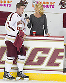 Pat Mullane (BC - 11) - The Boston College Eagles defeated the visiting Boston University Terriers 5-2 on Saturday, December 1, 2012, at Kelley Rink in Conte Forum in Chestnut Hill, Massachusetts.