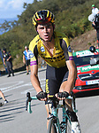 Sepp Kuss (USA) Team Jumbo-Visma attacks on the final climb of Stage 15 of La Vuelta 2019  running 154.4km from Tineo to Santuario del Acebo, Spain. 8th September 2019.<br /> Picture: Karlis | Cyclefile<br /> <br /> All photos usage must carry mandatory copyright credit (© Cyclefile | Karlis)