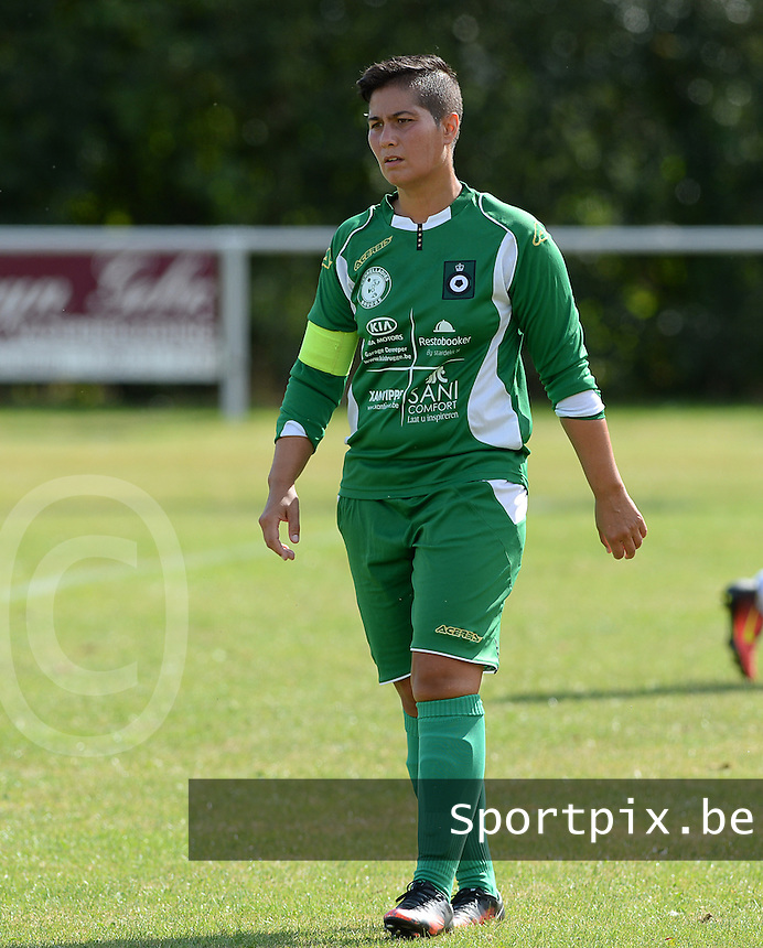 20160903 - BRUGGE , BELGIUM : Cercle's Samantha Westphal pictured during a soccer match between the women teams of Cerkelladies Brugge and GFA Sinaai Girls , during the first matchday in the 2016-2017  Tweede klasse - Second Division season, Saturday 3 September 2016 . PHOTO SPORTPIX.BE | DAVID CATRY