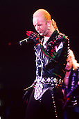 JUDAS PRIEST - Rob Halford - performing live on the Mercenaries of Metal Tour at the Odeon Hammersmith in London UK - 13 Jun 1988.  Photo credit: George Bodnar Archive/IconicPix