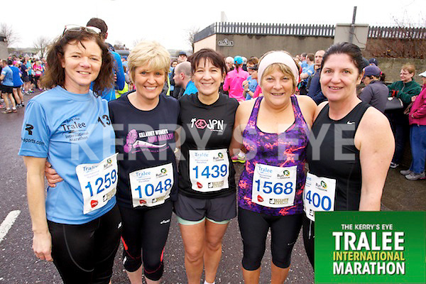Myra Griffin 1259, Mary Breen 1048, Catherine McCarthy 1439, Chris O'Sullivan 1568, Sheila Lyons 1400, who took part in the Kerry's Eye Tralee International Marathon on Sunday 16th March 2014.