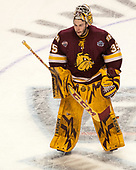 Hunter Miska (UMD - 35) - The University of Denver Pioneers defeated the University of Minnesota Duluth Bulldogs 3-2 to win the national championship on Saturday, April 8, 2017, at the United Center in Chicago, Illinois.