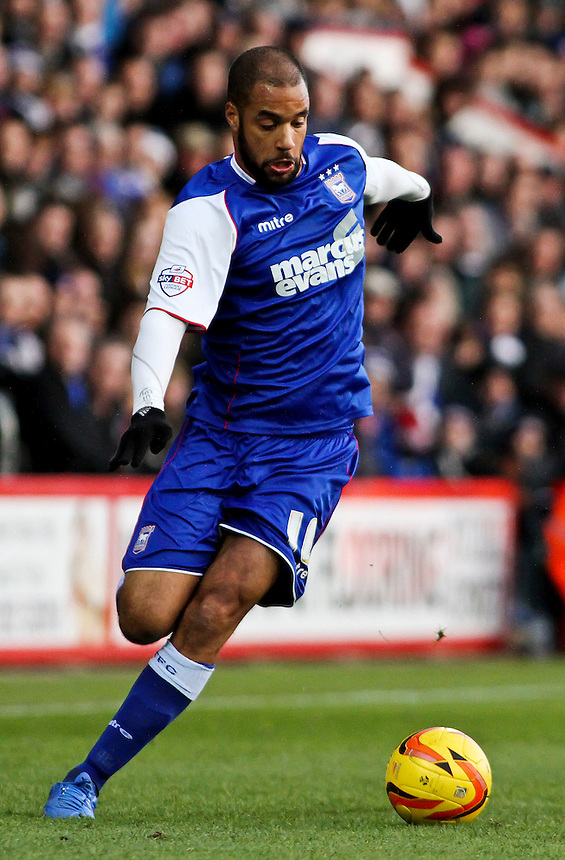 Ipswich Town's David McGoldrick in action during todays match.<br /> <br /> Photo by James Marsh/CameraSport<br /> <br /> Football - The Football League Sky Bet Championship - AFC Bournemouth v Ipswich Town - Sunday 29th December 2013 - Goldsands Stadium - Bournemouth<br /> <br /> &copy; CameraSport - 43 Linden Ave. Countesthorpe. Leicester. England. LE8 5PG - Tel: +44 (0) 116 277 4147 - admin@camerasport.com - www.camerasport.com