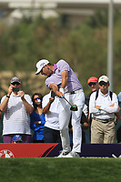Sergio Garcia (ESP) on the 3rd tee during Round 2 of the Omega Dubai Desert Classic, Emirates Golf Club, Dubai,  United Arab Emirates. 25/01/2019<br /> Picture: Golffile | Thos Caffrey<br /> <br /> <br /> All photo usage must carry mandatory copyright credit (© Golffile | Thos Caffrey)
